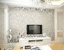 hanmero high grade flocking victorian damask embossed wallpaper