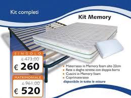 materasso matrimoniale memory foam prezzi kit in memory foam con materasso 22 cm rete cuscini