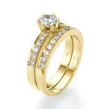 14k gold wedding ring sets 14k white gold bridal wedding ring set couplez