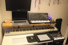 Under Desk Laptop Mount by How Do You Arrange Your Computer Desk And Synth Area Synthesizers