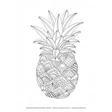 free downloadable zentangle pineapple coloring