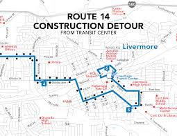 Map Service Center Transit Center Construction Service Impacts Wheelsbus