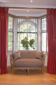 image result for how to hang curtains around bay window box for