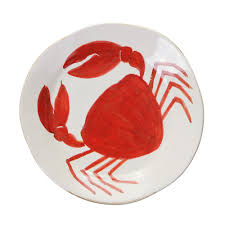 flamant home interiors di mare dinner plate crab