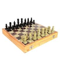 pooja creation brown engineered wooden chess board buy online at