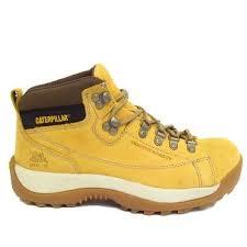 womens caterpillar boots uk womens honey caterpillar leather active alaska steel toe boots