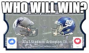Giants Cowboys Meme - image tagged in ny giants football dallas cowboys like love memes