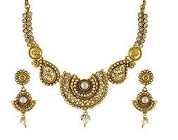 necklace set gold design images Buy vama fashions latest gold design handmade temple jewellery jpg