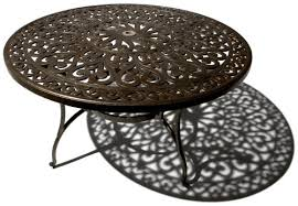 cast aluminum dining table amazon com strathwood st thomas cast aluminum round dining table