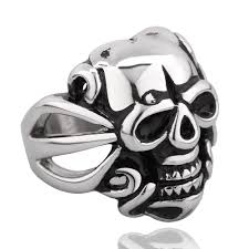 skull gothic rings images Goth rings media rich jewelry gold silver diamond jpg