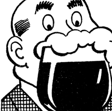 cartoon beer black and white retro beer man image the graphics fairy
