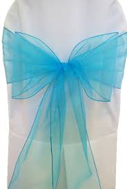 turquoise chair sashes turquoise organza chair sashes bows ties wholesale
