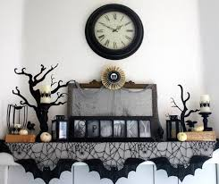 decorations halloween fireplace decor with a vintage look also