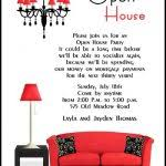 open house birthday party invitation wording sweet 15 open house