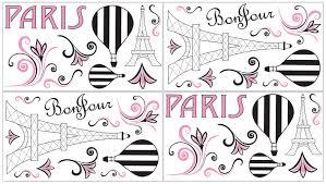 sweet jojo designs paris wall decal reviews wayfair paris wall decal