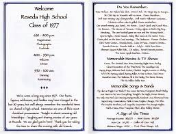 30th reunion program class reunion ideas reunion and