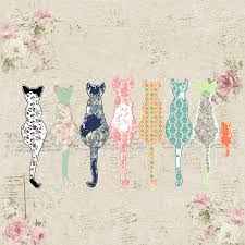 Shabby Chic Shower by Cat Shower Curtain Shabby Chic Shower Curtain Cats Shower