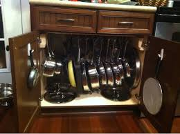 kitchen storage ideas for pots and pans pots and pans storage stuff for josh to us