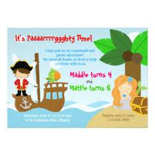 mermaid party invitations u0026 announcements zazzle