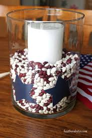 4th of july table décor or put an ou decal on the outside for