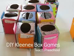 diy kleenex box math games teach preschool