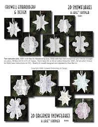 k lace machine embroidery designs 3d snowflakes 3d ornaments