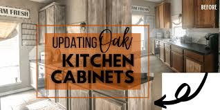 how to update honey oak kitchen cabinets honey oak cabinets archives the diy vibe