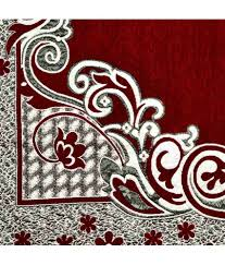 divine home decor maroon chenille carpet contemporary buy divine