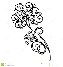 decorative flower decorative flower with leaves stock vector illustration of