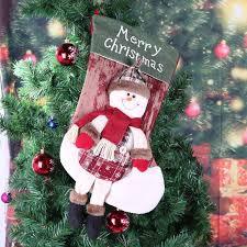 large christmas large christmas socks candy gift bag tree hanging