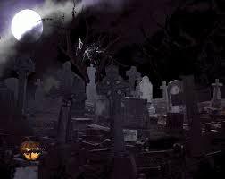 image gallery halloween graveyard cartoon