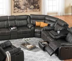 Black Leather Reclining Sectional Sofa Sofa Reclining Sofa Sectional Trendy Reclining Sofa Sleeper