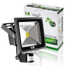 Le 30w Motion Sensor Led Flood Light Waterproof Daylight White