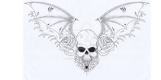 skull and wings chest by pulverisedfetus on deviantart