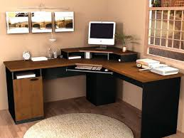 furniture small la shape bush corner computer desk ideas with