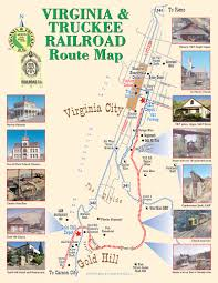 Virginia Map Of Cities by Comstock Train Route Map Virginia U0026 Truckee Railroad