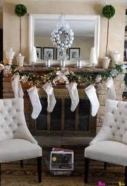 appealing christmas fireplace decor ideas decorative stone