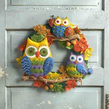bucilla owls wreath felt applique kit 86562
