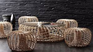 round rattan side table decoration incredible woven rattan creation transform into chic and
