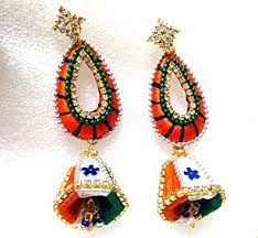 earrings online india buy icraftent indian flag tri colour designer silk thread earrings