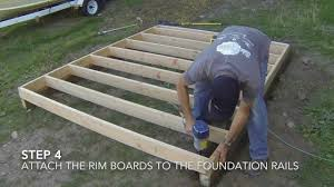 Free Plans For Building A Wood Storage Shed by How To Build A Shed Part 2 Floor Framing Youtube