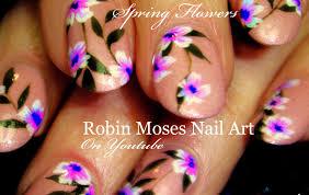 spring flower nails diy easy floral nail art design tutorial