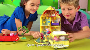 Family Home And Garden House And Garden Playset U0026 Family Campervan Peppa Pig świnka