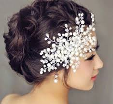 pearl headpiece free shipping 2016 bridal wedding hair accessories pearl flower