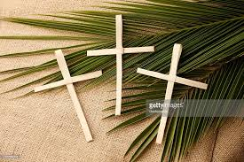 palm sunday crosses palm sunday crosses and branches stock photo getty images