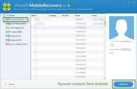 factory reset android software to recover contacts from android phones after factory reset