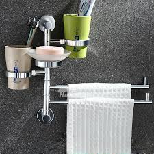 Bathroom Towel Holder Drill Wall Mount Bathroom Towel Racks Chrome