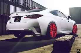lexus sports car white white lexus rc350 savini wheels black di forza bm13 brushed red 14