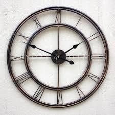 roman numeral wall clock iron wall clocks decoration