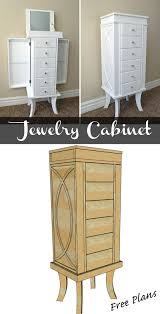 Diy Wood Desk Plans by Jewelry Cabinet Jewelry Cabinet Diy Woodworking And Woodworking